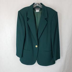 Sag Harbor 14 Hunter Green Wool One Button Blazer